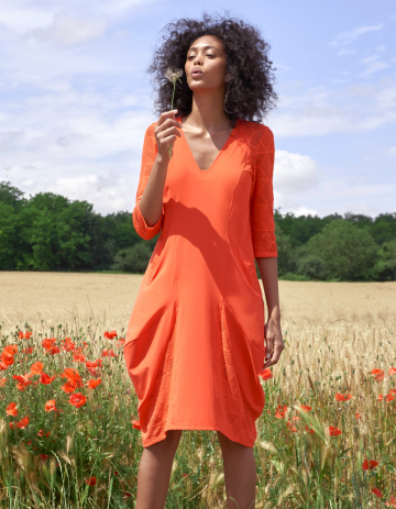 ROBE RODIER 88 - Orange