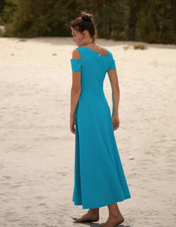 DRESS AKITA-88 - Turquoise