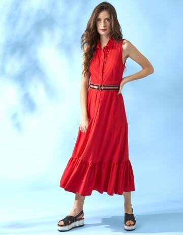 DRESS JOLL - ROUGE