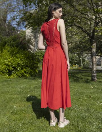 DRESS JENNY - ROUGE