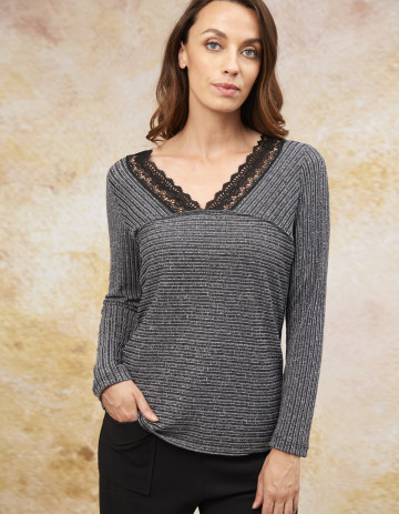 TOP IVRY - Feather grey