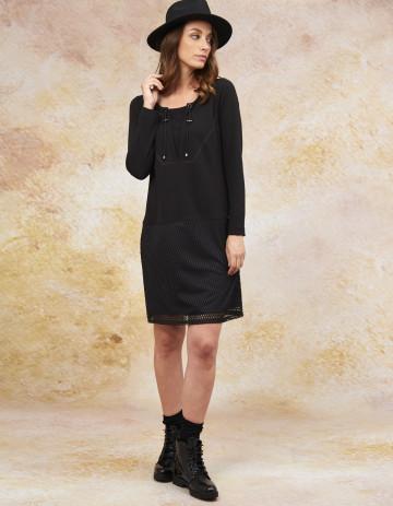DRESS CARISS - Black